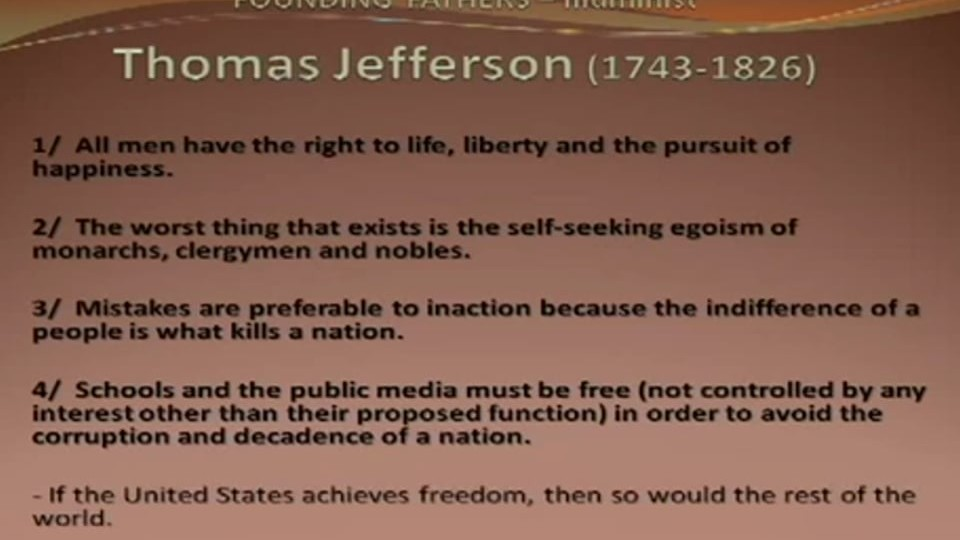 Nr4 Analyzing the 1 %  – Thomas Jefferson Study